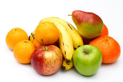 Fruit selection. A selection of fruit on a white background Royalty Free Stock Images