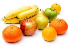 Fruit selection. A selection of fruit on a white background Royalty Free Stock Image