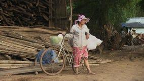 Fruit, seller, cambodia, southeast asia stock video