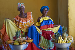 Fruit Seller in Cartagena de Indias in Colombia Stock Photography