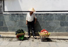 Fruit Seller Stock Images