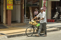 Fruit seller in Ho Ch Minh city, Vietnam Stock Image