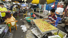Fruit seller in Ho Ch Minh city, Vietnam Royalty Free Stock Image