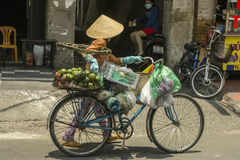 Fruit seller in Ho Ch Minh city, Vietnam Royalty Free Stock Images