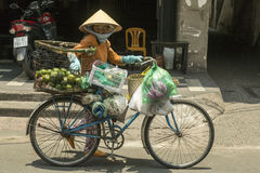 Fruit seller in Ho Ch Minh city, Vietnam Stock Image