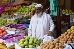 Free Fruit Seller In India Stock Photography - 98502402