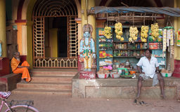 Fruit seller next to Temple entrance. Gokarna, Uttara Kannada Karnataka, India Stock Photography
