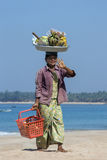 Fruit Seller - Ngapali Beach - Myanmar (Burma) Royalty Free Stock Image
