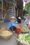 Fruit seller woman royalty free stock photos