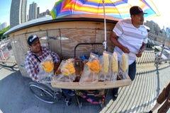 Fruit Sellers, Brooklyn Bridge, Fisheye Royalty Free Stock Photo