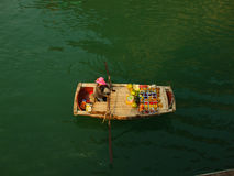 Fruit sellers in Ha long bay Stock Photography
