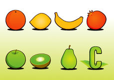 Fruit Set 1. Vector drawing Stock Illustration