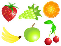 Fruit set. Bright and Colorful mixed fruit set Royalty Free Stock Photo