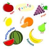 Fruit set Stock Image