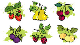 Fruit set. Of six elements Stock Photo
