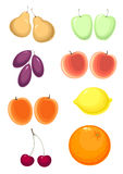 Fruit set Royalty Free Stock Images
