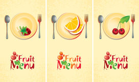 Fruit set. Of banners for the menu Royalty Free Stock Photos
