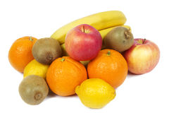 Fruit set. Background of citrus, grapes, and other fruits Royalty Free Stock Photos