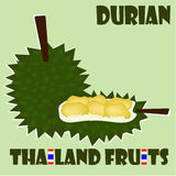 Fruit set: Durian from Thailand. King of Fruit from Siam. Strong smell and taste but popular, must try when visit Thailand Royalty Free Stock Images