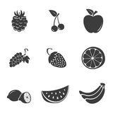 Fruit set icons Stock Images