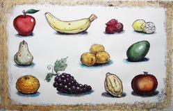 Fruit set illustration Stock Image