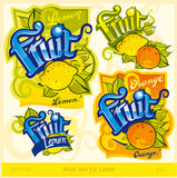 Fruit set for label Stock Photos