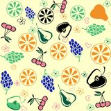 Fruit set pattern , nature fruit background. Fruit set pattern nature fruit background Royalty Free Stock Images
