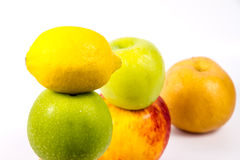 Fruit set in a row. Stock Images