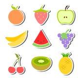 Fruit Set Stickers Royalty Free Stock Photo