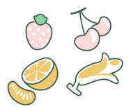 Fruit set vector Royalty Free Stock Image