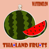 Fruit set : Watermelon from Thailand. Watermelon from Thailand Royalty Free Stock Image