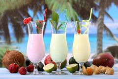 Fruit shake cocktail Royalty Free Stock Images