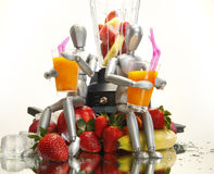 Fruit shakes for dummies. Healthy smoothie, shake or daiquiri for dummies stock photography