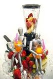 Fruit shakes for dummies. Healthy smoothie, shake or daiquiri for dummies stock photos