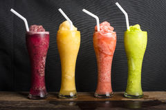 Fruit shakes Stock Photography