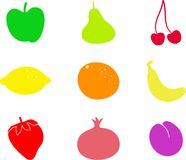 Fruit shapes Royalty Free Stock Images