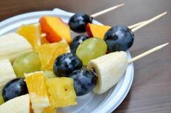 Fruit shashlik Stock Photo