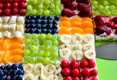 Fruit sheet cake Royalty Free Stock Photo