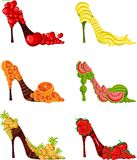 Fruit shoes. Vector Illustration of a fruit shoes Stock Images