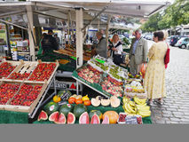 Fruit shop on the city street in the Potsdam, Germany Stock Photo