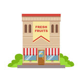 Fruit Shop Commercial Building Facade Design Royalty Free Stock Images