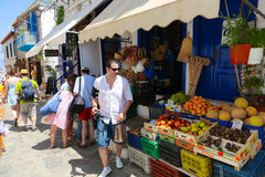 Fruit shop in Greece island Stock Image