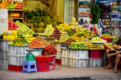 Fruit Shop or greengrocery on street for sale Stock Photography