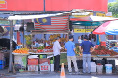 Street fruit shop Kuala Lumpur Stock Images