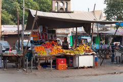 Fruit shop on the market in Agra Stock Image