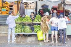 Fruit shop in market Stock Image