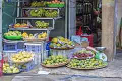 Fruit shop in market Stock Images