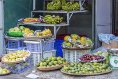 Fruit shop in market Stock Photos
