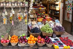 Fruit Shop In Siena Royalty Free Stock Photos