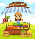 Fruit shop stall Royalty Free Stock Photo